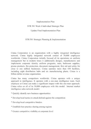 strategic plan final for str 581 Environmental scan str 581 week 2 strategic plan, part 1: environmental scan str 581 week 2 strategic plan.