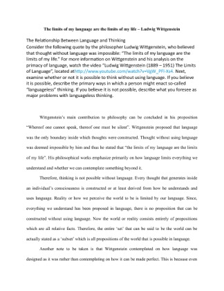 the limits of my language 2 essay 2 table of contents 10 introduction 11 acquisition and learning 3 4 20  literature review  language learners and reflections on classroom practice.