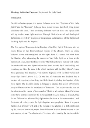 Theology unique writing paper