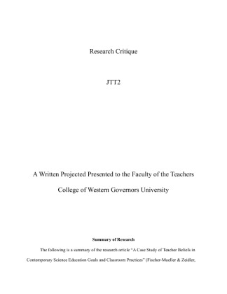 jtt2 wgu Wgu rfc1 foundations of research study play quantitative research numerical data experimental casual comparative single subject experiment multiple regression.