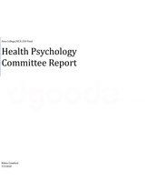 hca 250 final project health psychology committee report View chad ratigan's profile on linkedin coordinating and conducting project activities health care psychology of health (hca/250.