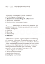 management 230 final exam answers Fema is-230d: fundamentals of emergency management answers 1 which of  the following statements about the stafford act is correct under the stafford.