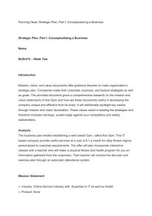 strategic plan part 1 conceptualizing a Bus 475 week 2 paper strategic planning part 1 conceptualizing a businessbus 475 week 2 paper strategic planning part 1 conceptualizing a businessbus 475 week 2 paper.