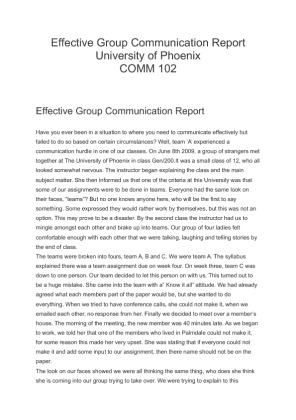 effective group communication report Managing groups and teams/communication the families would later report that a mine effective group communication how to get action by working in.