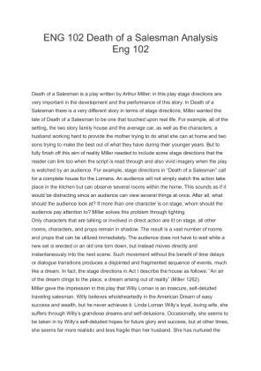 the death of a salesman analysis essay Of essay analysis death a character salesman essay on my daily routine in simple present tense meaning critical essay literary definition kid.