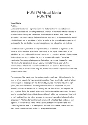 hum 176 Hello thank you for your submission this week here is some feedback to help you assess your assignment contribution versus what was expected in this assignment.
