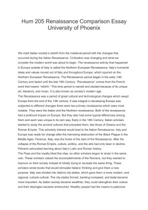 renaissance essay paper The term renaissance literally means to be born again, which is the reason why it is referred to as a rebirth the word rebirth regarding the.
