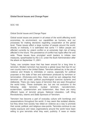 global social change manifesto essay