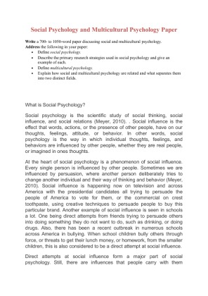 Psychology Research Paper Proposal Sample