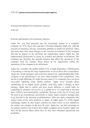 str 581 external and internal environmental analysis
