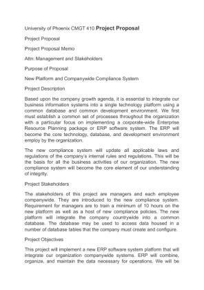 university of phoenix project management