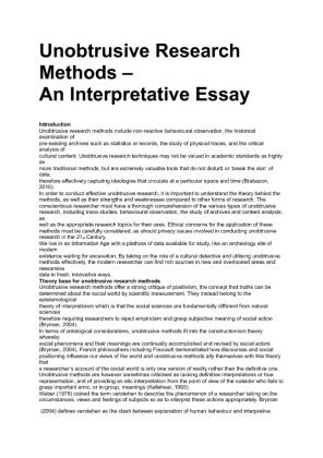 research methods essay