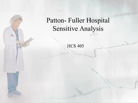 hcs 405 sensitivity analysis