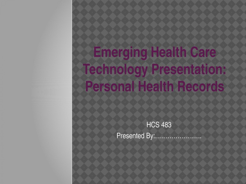 hcs 483 week 1 healthcare information systems terms
