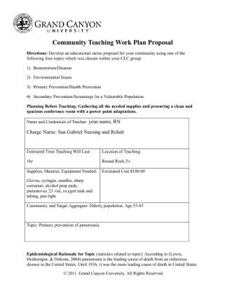 community teaching work plan proposal Proposal templates work plan/action plan/scope of work work plan sample #1 students and the community.