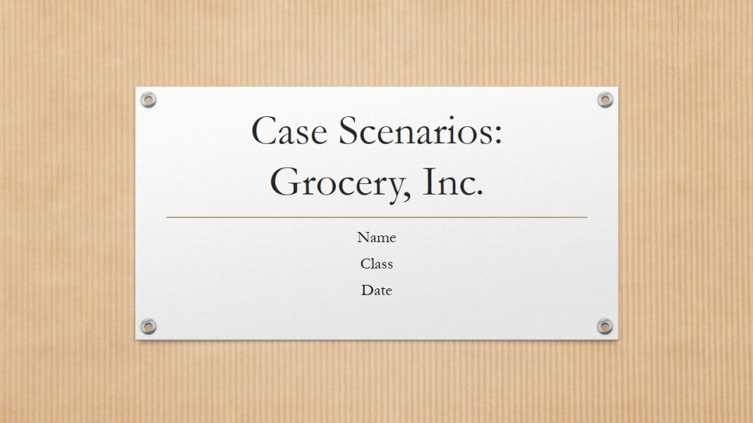 law 421 week 5 grocery inc case scenario s