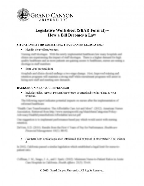 legislative worksheet sbar format how a bill becomes law. Black Bedroom Furniture Sets. Home Design Ideas