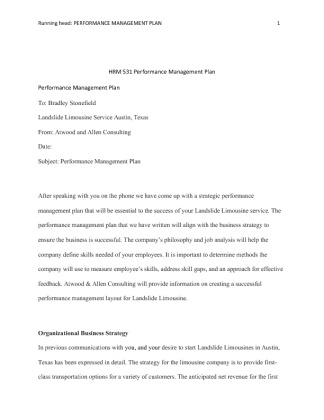 hrm 531 performance plan Through which organization set work goals from hrm 531 at university of  phoenix  recruitment of talented people all the time, proper training plan for  them.