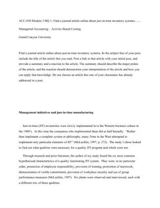 dq 1 module one essay