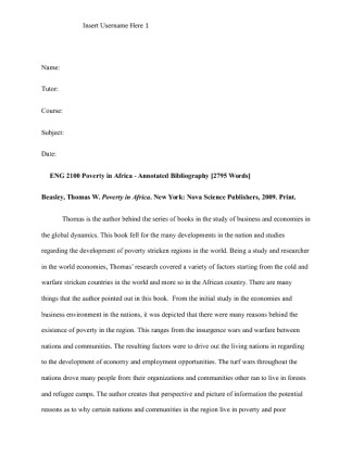 evaluative annotated bibliography