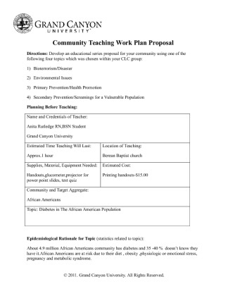 community teaching plan community teaching work plan proposal essay State plans stay connected tools & resources evidence-based educational and community-based programs and strategies are designed to reach people outside of traditional establishing an evidence base for community health and education policy interventions to determine their impact and.