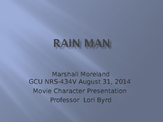 NRS 434V Week 5 Movie Character Health Assessment ...