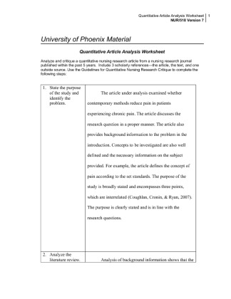nur 518 university of phoenix Washington street, room 260, phoenix, az 85007  nur 590 principles of  informatics in health  provided below): edu 551, 565 cep 506, 518, 520.
